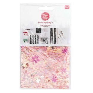 Papier patch Rose motif tapis de...
