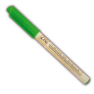 Green glitter marker
