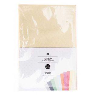 10 sheets of felt - Rainbow 20 x 30 cm