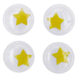 Ojos móviles Ø 35 mm - Estrella amarilla
