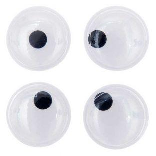 Ojos móviles Ø 35 mm - pupilas pequeñas