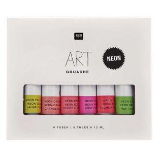 Set di pittura a guazzo - Colori fluo...
