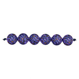 5 acid leo purple beads Ø 16 mm