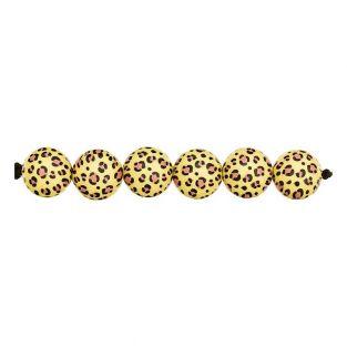 5 Säure-Leo-Perlen gelb Ø 16 mm