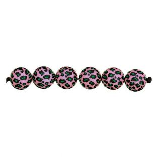 5 Säure leo rosa Perlen Ø 16 mm