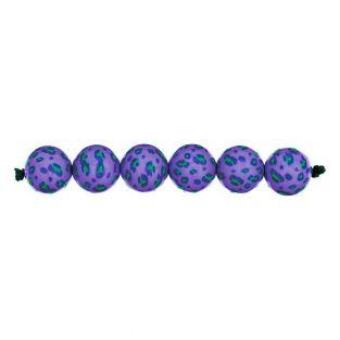 5 acid leo lilac beads Ø 16 mm