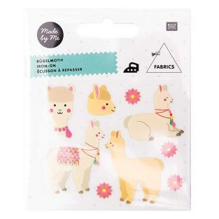 Iron-on badges - Alpaca