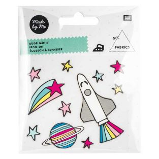Iron-on badges - multicoloured space