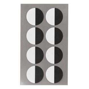 32 black and white round eye stickers...