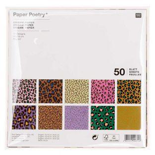 50 Blätter für Origami Acid Leo - 15...