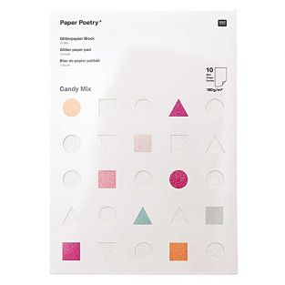10 Blatt Glitzerpapier A4 - Säurefarben