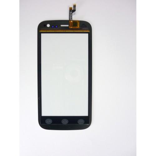 Vitre écran tactile noir + adhésif pré-installé pour Wiko Cink Iggy