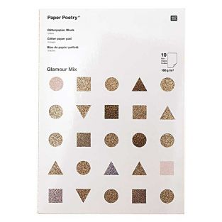 10 sheets of glitter paper A4 - gold...