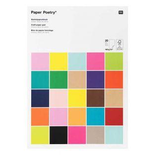 20 hojas de papel A3 160 g - Multicolor
