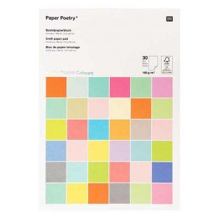 30 feuilles de papier A4 180 g - Pastel