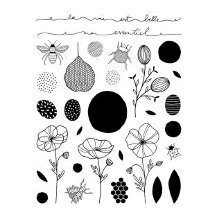 Clear stamp - Plants and insects