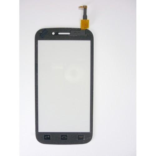 Vitre écran tactile noir + adhésif pré-installé pour Wiko Stairway