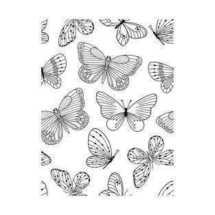 Tampon transparent - Papillons 7 x 9 cm