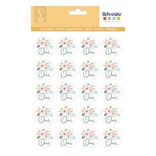 60 round stickers Oui Ø 3,5 cm