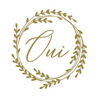 60 goldene runde Aufkleber Oui Ø 3,5 cm