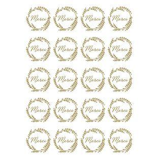 20 decalcomanie Merci - Oro