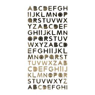 Alphabet autocollant en PVC - Doré