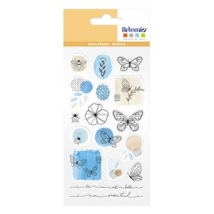 Epoxy Aufkleber Blumen & Schmetterlinge