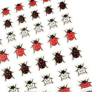 54 Ladybugs puffy stickers