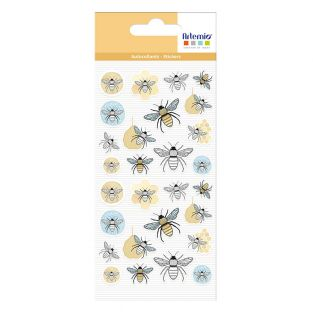 28 Bee puffy stickers