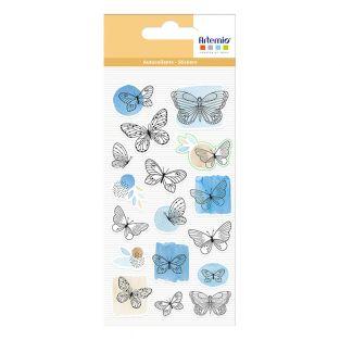 17 Schmetterling geschwollene Aufkleber