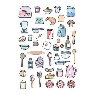 Decalcomanie per planner - Cucina