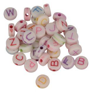 300 perlas alfabeto 6 mm - letras de...