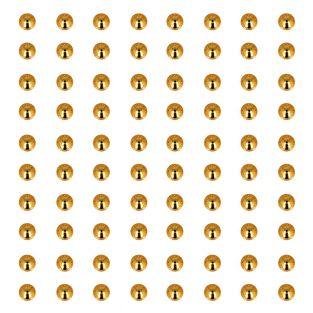 80 perles adhésives dorées