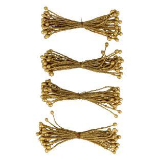 100 étamines dorées 6 cm