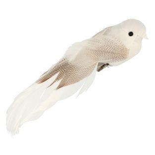 6 oiseaux blancs en papier sur pince...