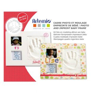 Photo and molding imprint baby frame...