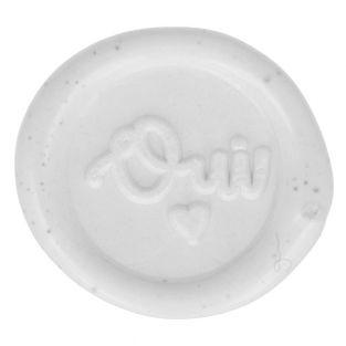 10 adhesive white wax seals 20 mm - Oui