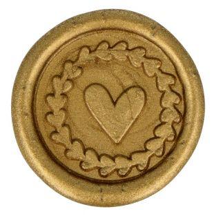 10 sellos de cera dorados para pegar...