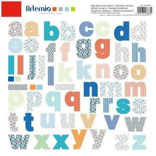 Alphabet autocollant en couleurs