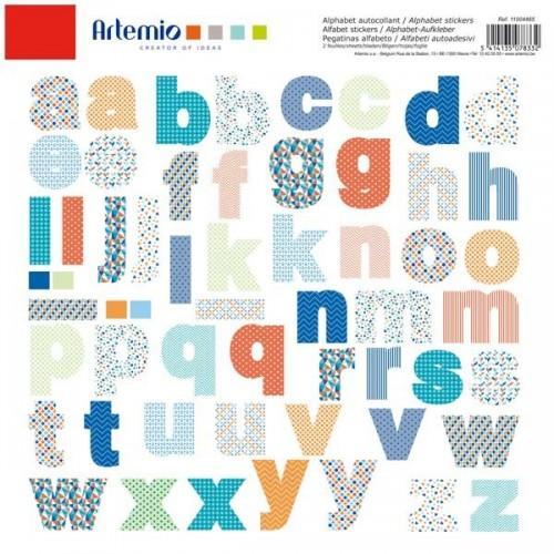 Alphabet colored stickers
