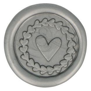 10 adhesive silver wax seals 25 mm -...