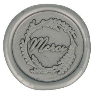 5 sellos de cera plateados para pegar...