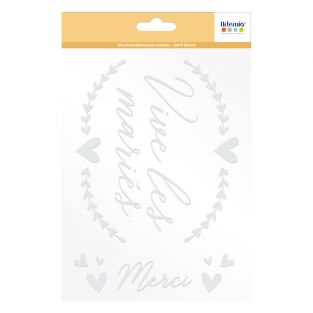 Iron-on fabric decals A5 - Vive les...