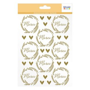 Iron-on fabric decals A5 - Merci &...