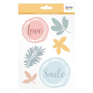 Iron-on fabric decals A5 Slow Life -...