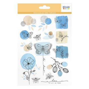 Iron-on fabric decals A5 - insects &...