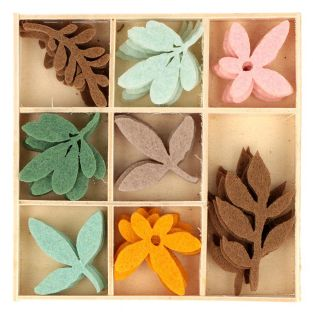 40 colorful mini felt shapes - Slow Life
