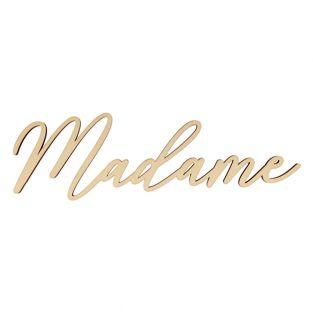 Wooden word 32 cm - Madame