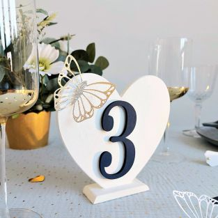 12 wooden numbers to stick 10 cm