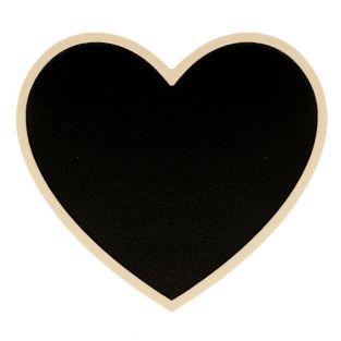 Heart blackboard with wooden border...